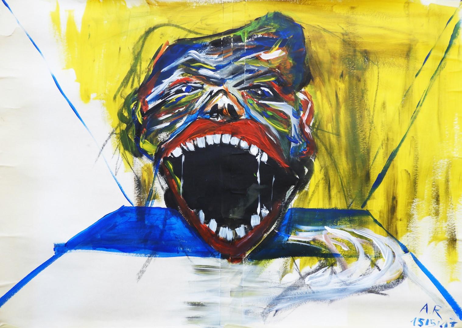 Acrylic on paper, 58x81cm