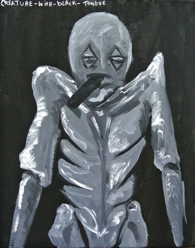 Black tongue, acrylic on canvas, 40x50cm