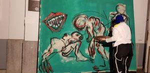 Performance HUGO @Opening Antwerp Art Weekend